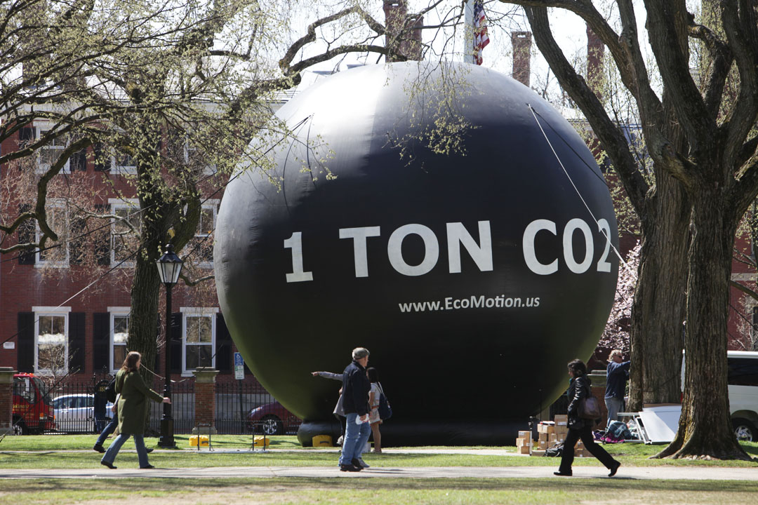 Thought provoking one ton of carbon dioxide might be difficult to see