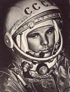 Yuri Gagarin:  First to orbit the Earth, April 12, 1961