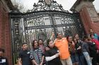A Day @ College:  Eighth grade students from Esek Hopkins Middle School pose in front of the Van Wickle Gates while exploring campus.