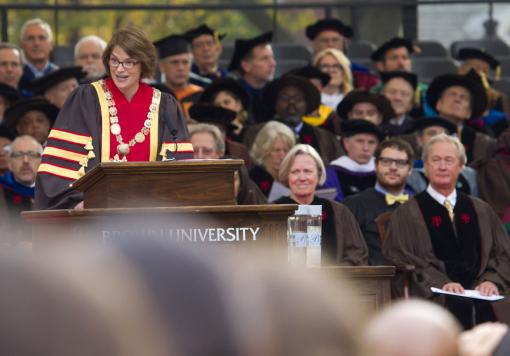"- Christina H. Paxson, 19th President of Brown University ""(We) are bound together by a love of learning and a passion for making a positive impact on the world. It is an honor to join you."""