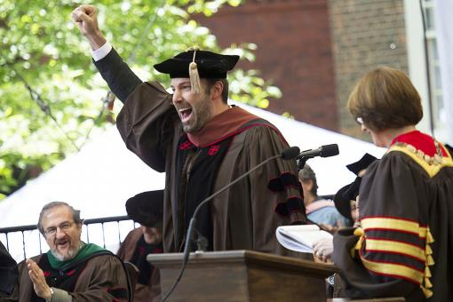 Auctoritate mihi commissa te ad gradum ... - Ben Affleck D.F.A. '13 celebrates his honorary doctorate.