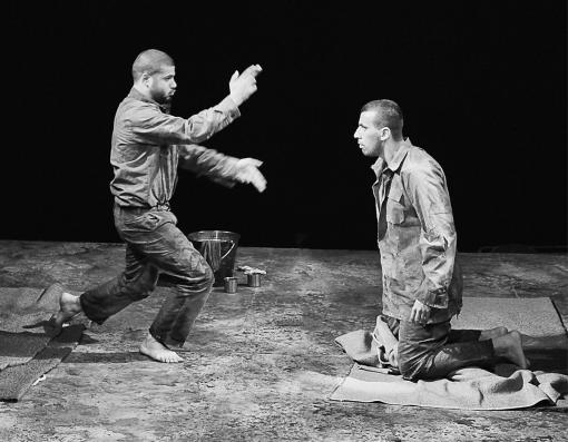 Freedom Theatre - Athol Fugard's The Island is about  two prisoners in Apartheid South Africa who spend nights in their cell rehearsing for a performance of Antigone. Freedom Theatre sets the play in Palestine.