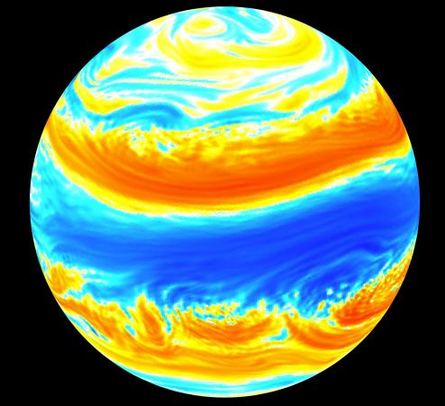 More robust models of the big picture - Even a highly simplified model of the Earth's atmosphere shows great complexity in jet streams and macroturbulence. Mathematical approaches that focus on average statistics rather than detailed patterns can deepen our understanding of climate and climate change.