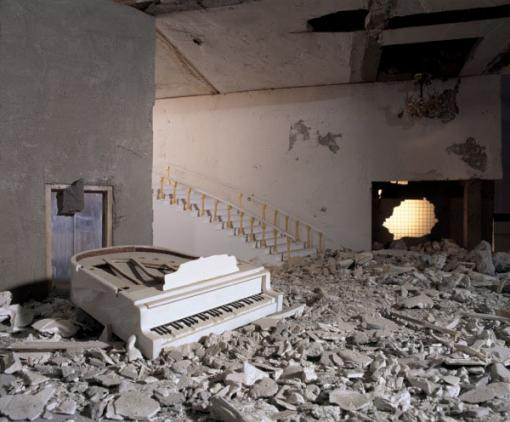 Wafaa Bilal, Piano  (2003-13) - Archival inkjet photograph, 40 x 50 inchesCourtesy of the artist