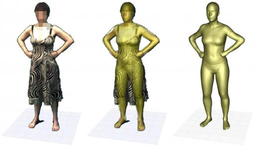 Shape under clothing - Brown computer scientists have developed a program that creates an accurate computerized image of a person's body even when the subject is clothed. The technology could be useful in in fashion, film, forensics, sports medicine, and video gaming.