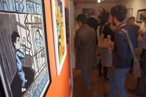 Migration Now: An exhibition - The Center for the Study of Race and Ethnicity in America is showing work by artists from CultureStrike, a national network of professional and emerging artists, social change experts, and creative producers.