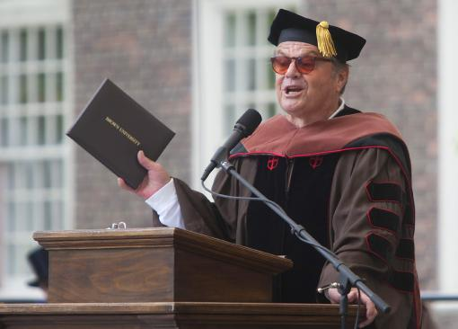 A day of honors - Actor Jack Nicholson received a Doctor of Fine Arts degree, honoris causa, at Brown University's 243rd Commencement Sunday, May 29, 2011.