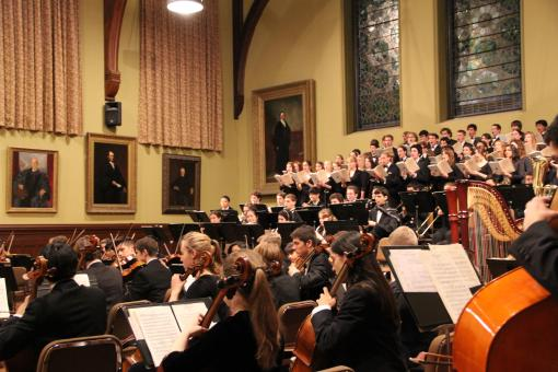 A choral/orchestral tribute - The Brown University Orchestra and Chorus, with the Providence College Festival Chorus, will perform works including Beethoven's Symphony No. 9 on Saturday, March 3, 2012. The concert is a tribute to Brown President Ruth J. Simmons.