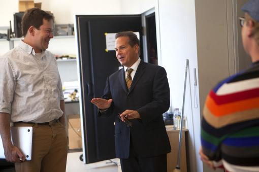 The BRAIN Initiative - Neuroscientist Chris Moore showed Rep. David Cicilline work he and his research group are doing to develop a new method of controlling blood vessels in the brain using light.
