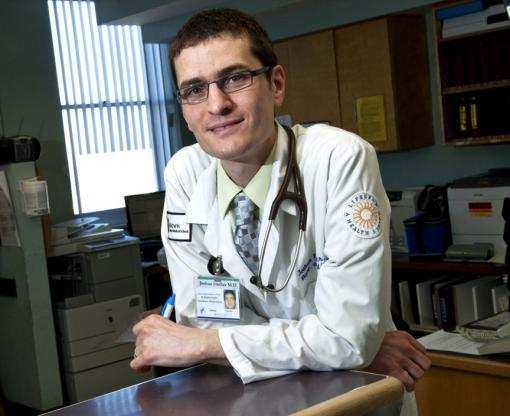 "Dr. Joshua Fischer - ""The place where you really make a difference in caring for adults is  not usually in the hospital once people have reached the dramatic  end-stage of illness, but it's in the 'mundane' things that happen in  the primary care office."""