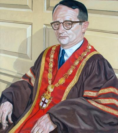 Ray Lorenzo Heffner - Thirteenth president of Brown University (1966–69) Sayles Hall portrait painted in 1969 by Philip Pearlstein.