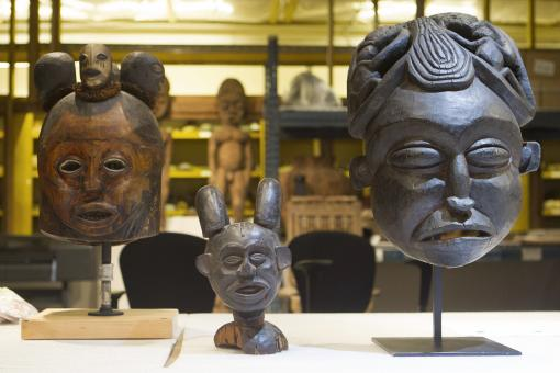 Masks and mask makers, people and place - The 19 Bangwa masks in the collection of the Haffenreffer Museum of Anthropology were collected in the mid-1960s by anthropologist Robert Brain and donated to the museum in 1988 by a private collector.