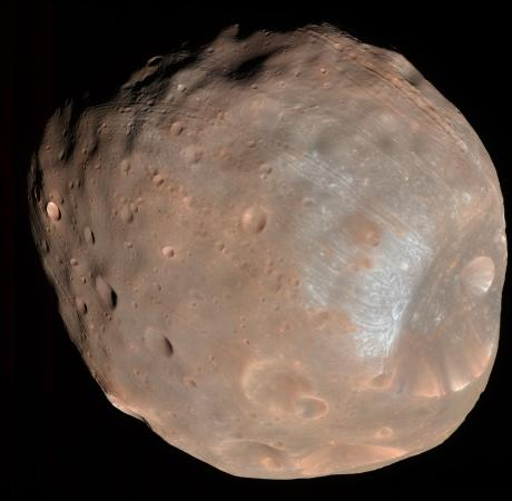 Human and robotic exploration - The Martian moon Phobos is among accessible solar system targets to be considered by a Brown/MIT team of planetary geologists. The team will help NASA develop research questions and exploration strategies.