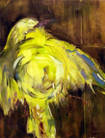 Anna Muselmann: Yellow Finch - Oil on canvas (2012)All photos courtesy of Bell Gallery