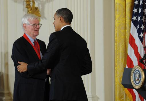 "Gordon S. Wood - The Alva O. Way University Professor and professor of history emeritus at Brown received the National Humanities Medal for ""scholarship that provides insight into the founding of the nation."""