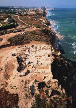 Apollonia-Arsuf - The Crusader Castle collapsed in the 13th century. Large fragments are now on the beach below; some are under ocean water. New computer-assisted techniques will help reassemble and interpret the archaeological record from broken, dispersed, and missing pieces.