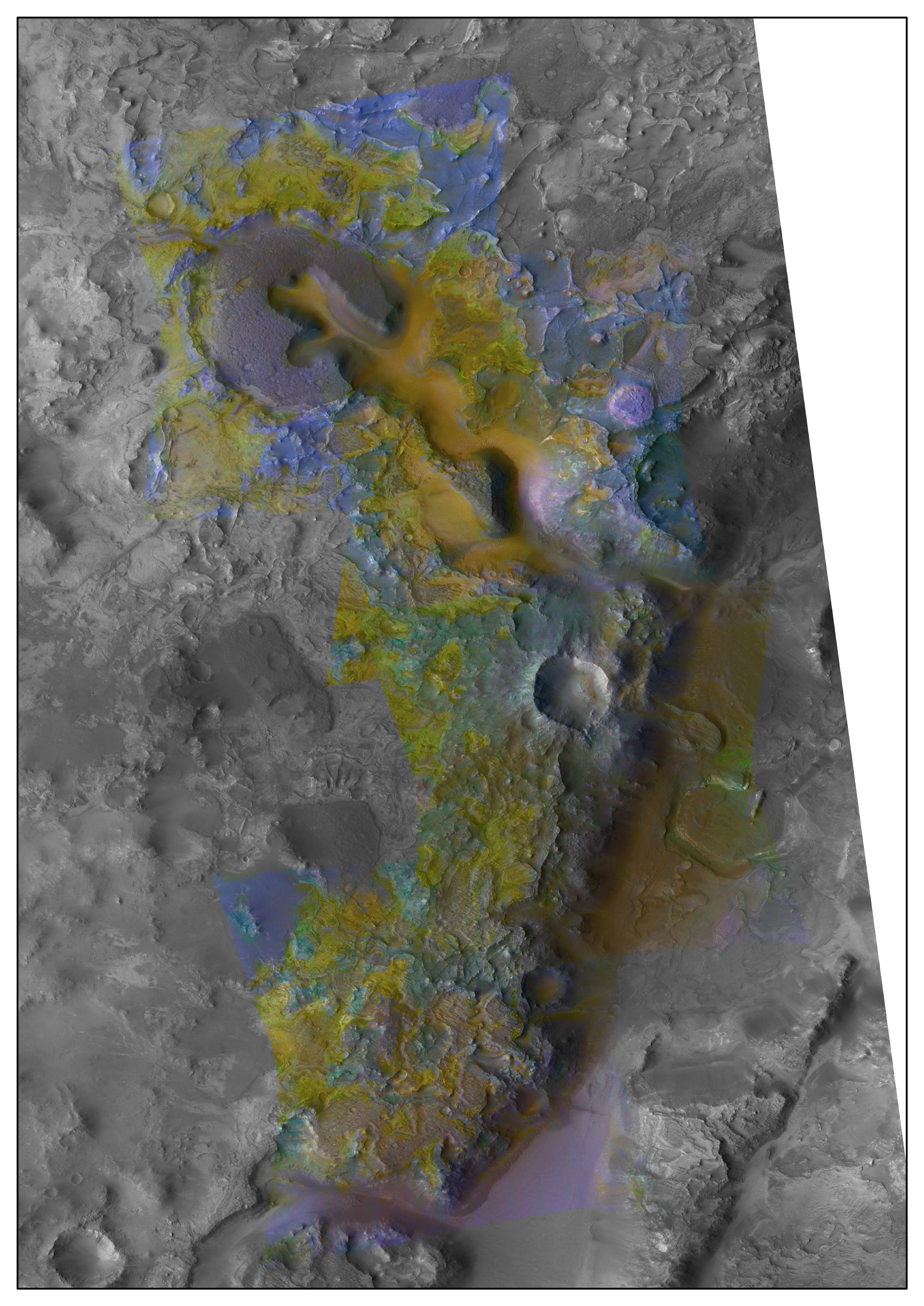Carbonated Mesas: A Brown-led team found carbonate-bearing rocks in the sides of eroded mesas in the Nili Fossae region. Scientists believe the carbonates may  have been formed at the surface when olivine-rich rocks were exposed, and altered, by running water.