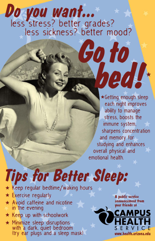 Sound Advice: A campus media campaign at the University of Arizona–Tucson was effective in raising sleep as a health issue and in getting students to sleep better and longer.Credit: University of Arizona