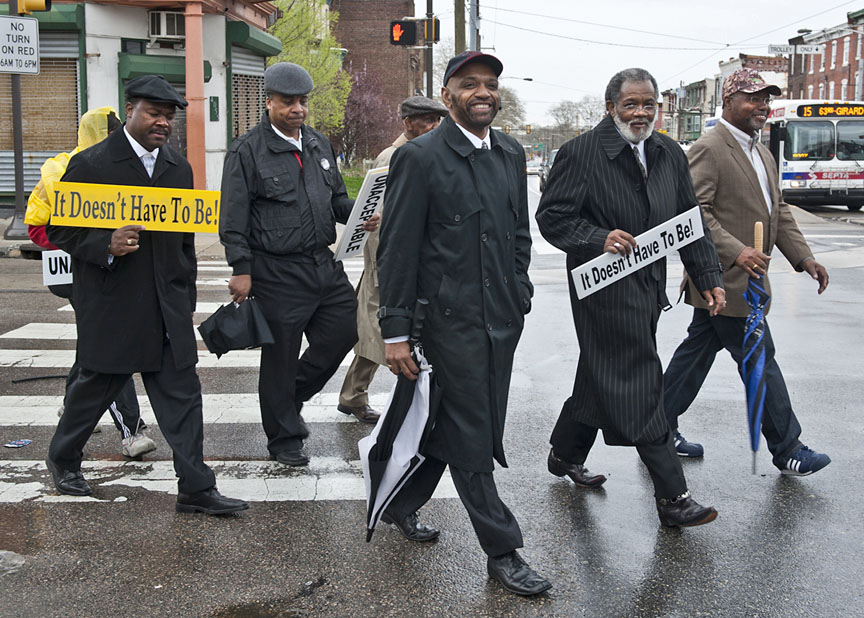 Go, tell it on the mountain ...: Black clergy in Philadelphia, above, worked to promote AIDS testing and treatment as a matter of conscience and social justice. A year later, clergy in Jackson, Miss., are preparing to take up the challenge of preaching and reaching and teaching.