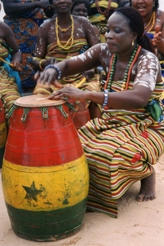 A decidedly different drummer: Drumming, among the core elements of life in Ghana, was historically the province of men. As Ghanaian culture changed in the postcolonial era, so did the drummers.