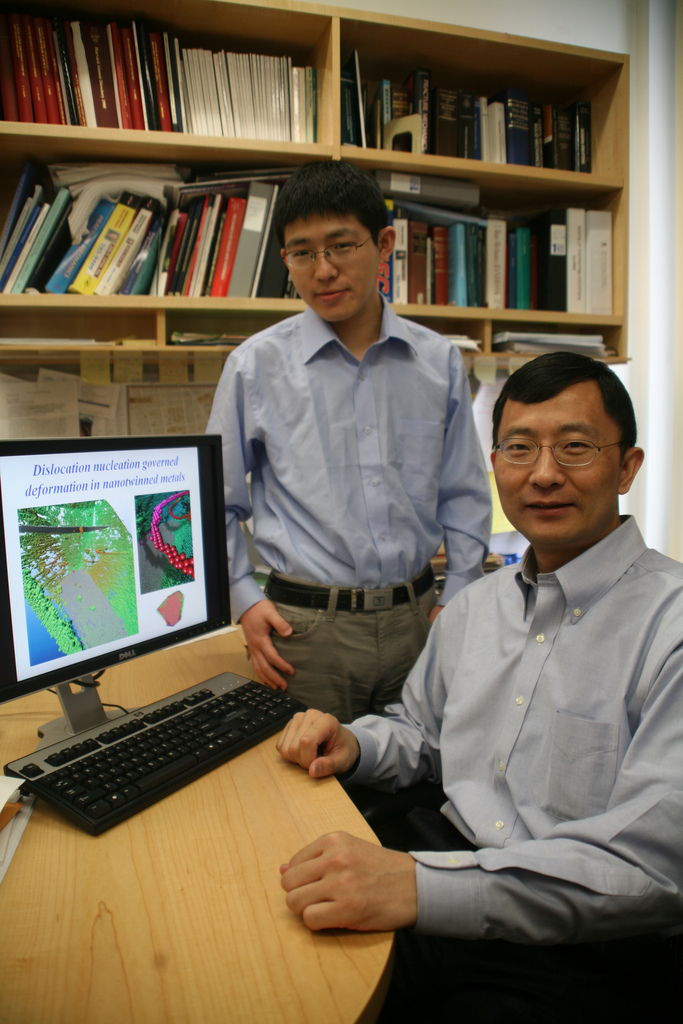 Wolfgang Peti: Huajian Gao, right, and graduate student Xiaoyan Li