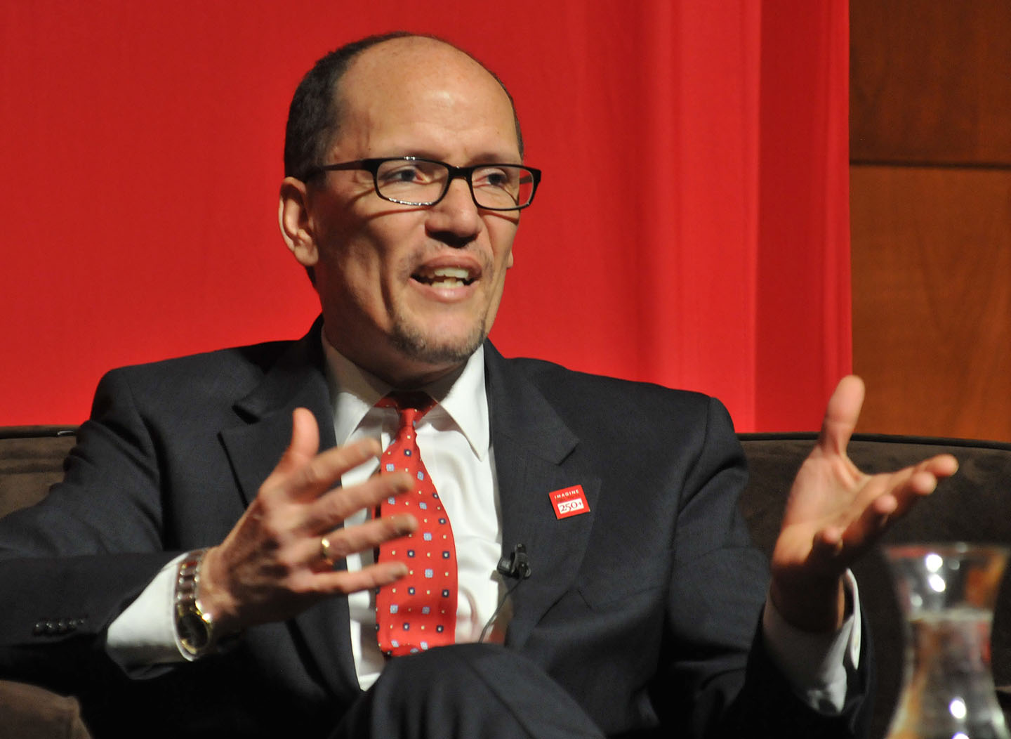 "Thomas Perez, U.S. Secretary of Labor: ""(Brown) gave me the moral, ethical, and intellectual foundation."" Credit: Frank Mullin/Brown University"