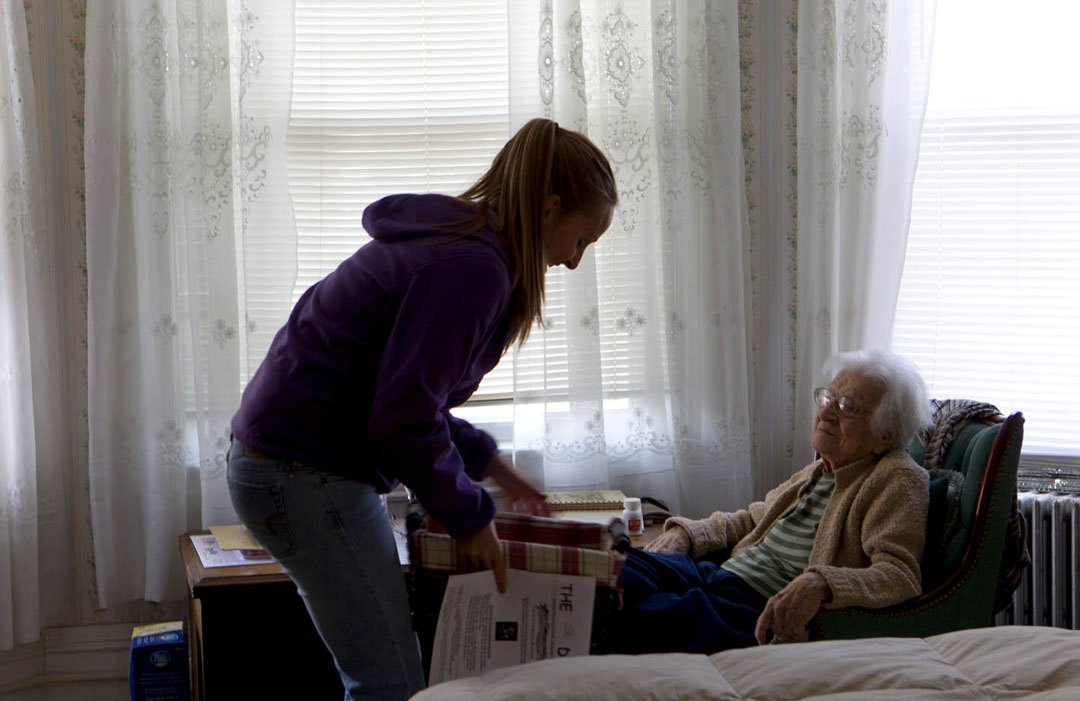 Food delivery as a point of contact: Regular deliveries of food also provide a chance to check in and chat with seniors.