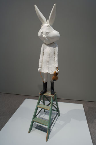 Amy Podmore, Measured Rest: Mixed media, 85 x18 x 27 inches (2009)