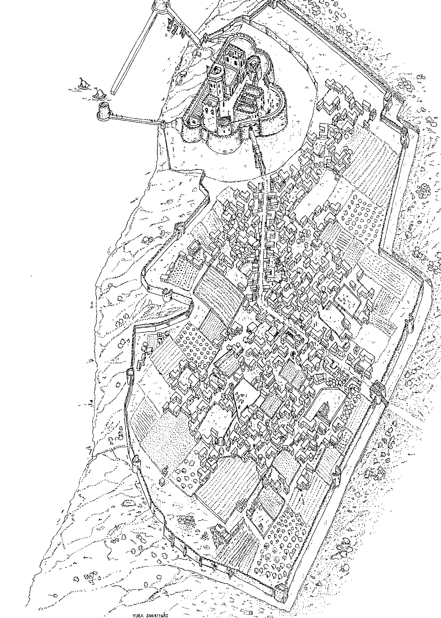 Crusader city: A bird's-eye view of the reconstruction of Crusader City.