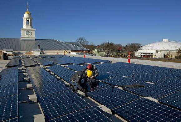 Aquatics Center Brown Dives Into Solar Energy News From